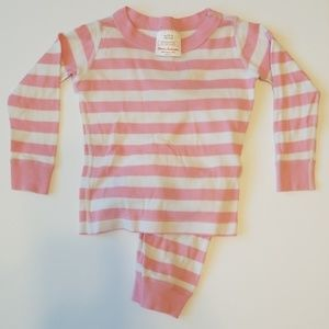 Hanna Andersson Pink and White Striped Pajamas